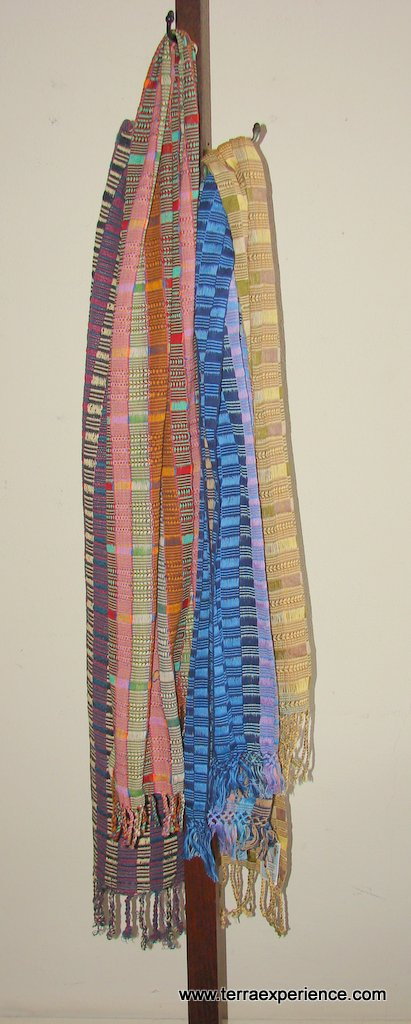 Handwoven Cotton Scarves from Guatemala  Fair Trade NEW